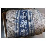 Queen Comforter, Pillow Shams & Curtains