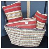 Basket & Throw Pillows