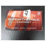 Superformance Varmint 20 Cartridges