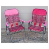 2 - Folding Lawn Chairs