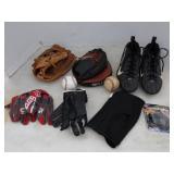 Catchers Glove, Balls, Glove & Cleats