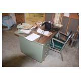 6 Drawer metal desk