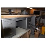 8+ Heavy Duty 6 drawer metal desks