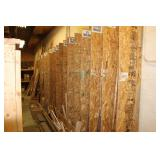 Lots of raw lumber, trim, etc.