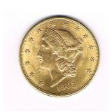#14 1903 Liberty $20 Double Eagle Gold Coin