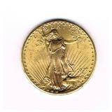 #20 1927 $20 Saint Gaudens Double Eagle Gold Coin