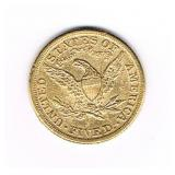 #40 Liberty Gold Coin Back