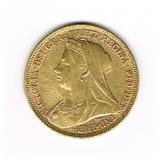 #56 Victoria Veiled Gold Coin