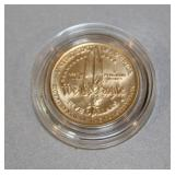 "#153 1987 $5 Constitution ""We The People"" Gold Coin"