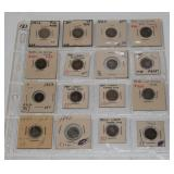 #121 Sheet of 16 Seated Liberty Dimes