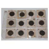 #131 12 Liberty One Cent Pennies