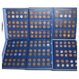 #212 4 Books of Lincoln Pennies incl. steel