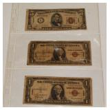 #215 Lot of 3 Hawaii U.S. Bills-