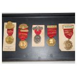 Firefighter metals & pins incl. Delegate