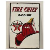 Fire Chief Gasoline sign