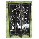Japanese Crane folding screen