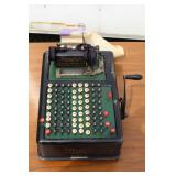 he Barrett Monotype cash register #66337