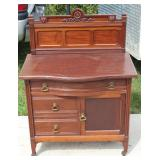 Mahogany washstand w/ backsplash