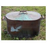 Copper washtub