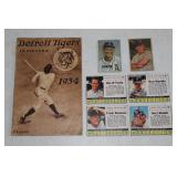 1934 Detroit Tigers Program & Cards