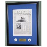RMS Titanic 100th Ann. Authentic Coal and Wood form ship