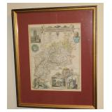 Clovcestershire Map Framed