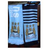 (2) Man. City scarfs