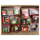 Lots of Christmas ornaments still in box