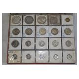 (2) Morgan Silver Dollars, Peace, etc.