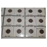 US 1 cent coins in sheets