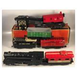 #870 Marx Tin Litho train lot w/ transformer