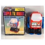 #863 NOS Super TV Robot Battery Op. with box