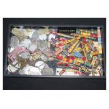 #814 Large grouping of WW1 and WW2 dog tags and Ribbon Bars