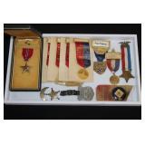 #816 Named Bronze Star, Spanish American war Veterans badges, Delegate badge,
