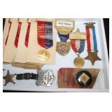 #816  Named watch Fob 1914 Defiance Ohio, Civil War veteran badges.