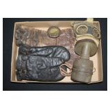 #874 Japanese Gas Mask and US gloves Lot