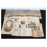 #881 Large Lot of WW1 newspapers called the Cro