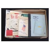#862 Box lot of paper, incl manuals