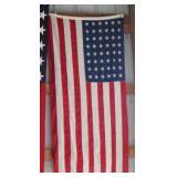 #850 Lot of 2 flags inc5x9.5 ft Philadelphia 48 star Navy flown Flag