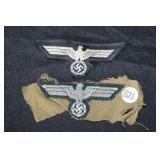 #821 Cutoff insignia, inc Panzer enlisted eagle, and Officer Bullion eagle,
