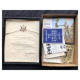 #883 Military Ephemera incl Aviation related books, manuals, & Letter