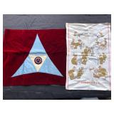 #885 WW1 3rd US Army Corps Flag, and crying towel