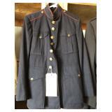 #919 WW2 USMC Dress Blues and Trousers. Name, J.E Wheeler