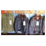 #943-945 Leather Jackets incl WW2 USN/USMC M422a Flight Jacket, Size 48.
