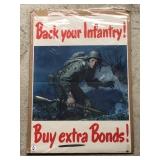 """#837 """"Back your infantry, buy war Bonds"""" poster"""