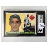 #255 1955 Topps Sandy Koufax Rookie graded SCG 3