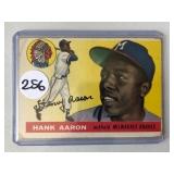 #256 1955 Topps Hank Aaron - looks G-VG