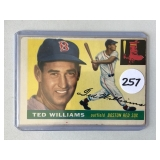 #257 1955 Topps Ted Williams - VG