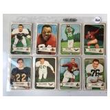 #263 1954 Bowman Football lot of (9) Hofer