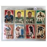 #265 1955 Bowman Football lot of (31) Hofer